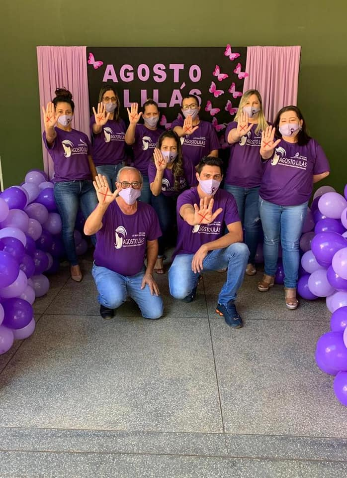 Creas de Água Clara realiza Campanha Agosto Lilás