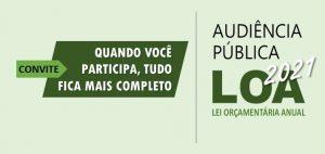 Prefeitura realiza na próxima sexta-feira, dia 9, Audiência Pública sobre a LOA. Participe!
