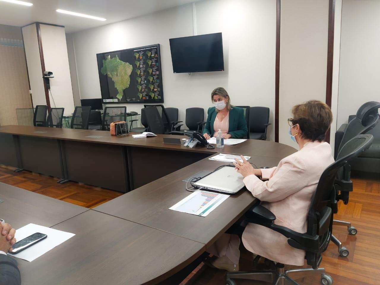 Prefeita Gerolina esteve em Brasília em busca de recursos para Água Clara