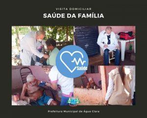 Secretaria de Saúde realiza visita domiciliar por meio do Programa Saúde da Família, juntamente com a atenção básica.