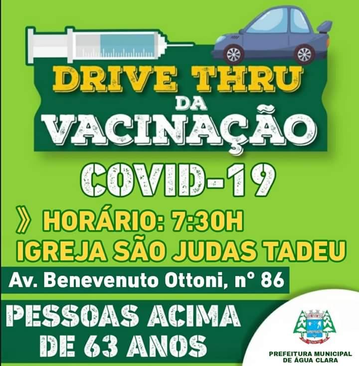 Água Clara iniciará 11ª etapa de vacinação contra Covid-19