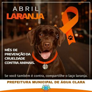 ABRIL LARANJA – Mês de prevenção da crueldade contra animais.