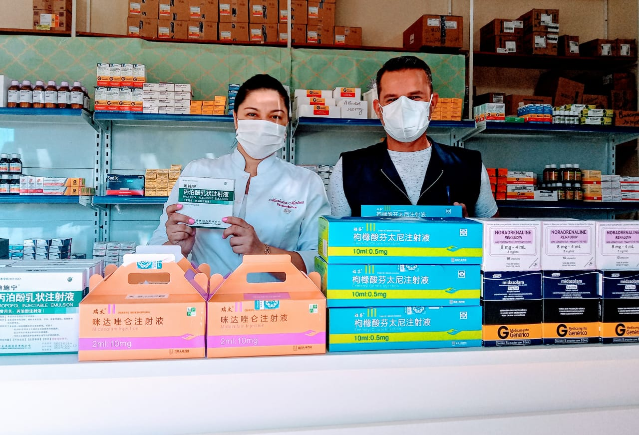 Prefeitura Municipal de Água Clara recebe medicamentos do Kit Intubação