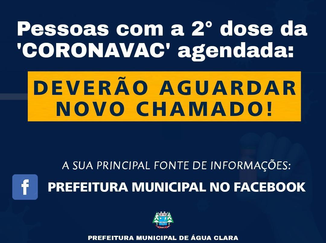 A Prefeitura Municipal de Água Clara por meio da secretaria municipal de saúde informa: