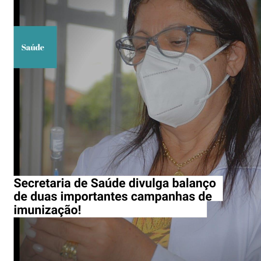 A Prefeitura Municipal de Água Clara através da secretaria de saúde e coordenação de imunização faz balanço das campanhas de imunização da INFLUENZA E COVID-19 no município.