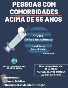 Vacina contra Covid-19 para pessoas acima de 55 anos com comorbidades