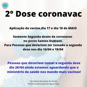 Vacina contra Covid-19 em Água Clara