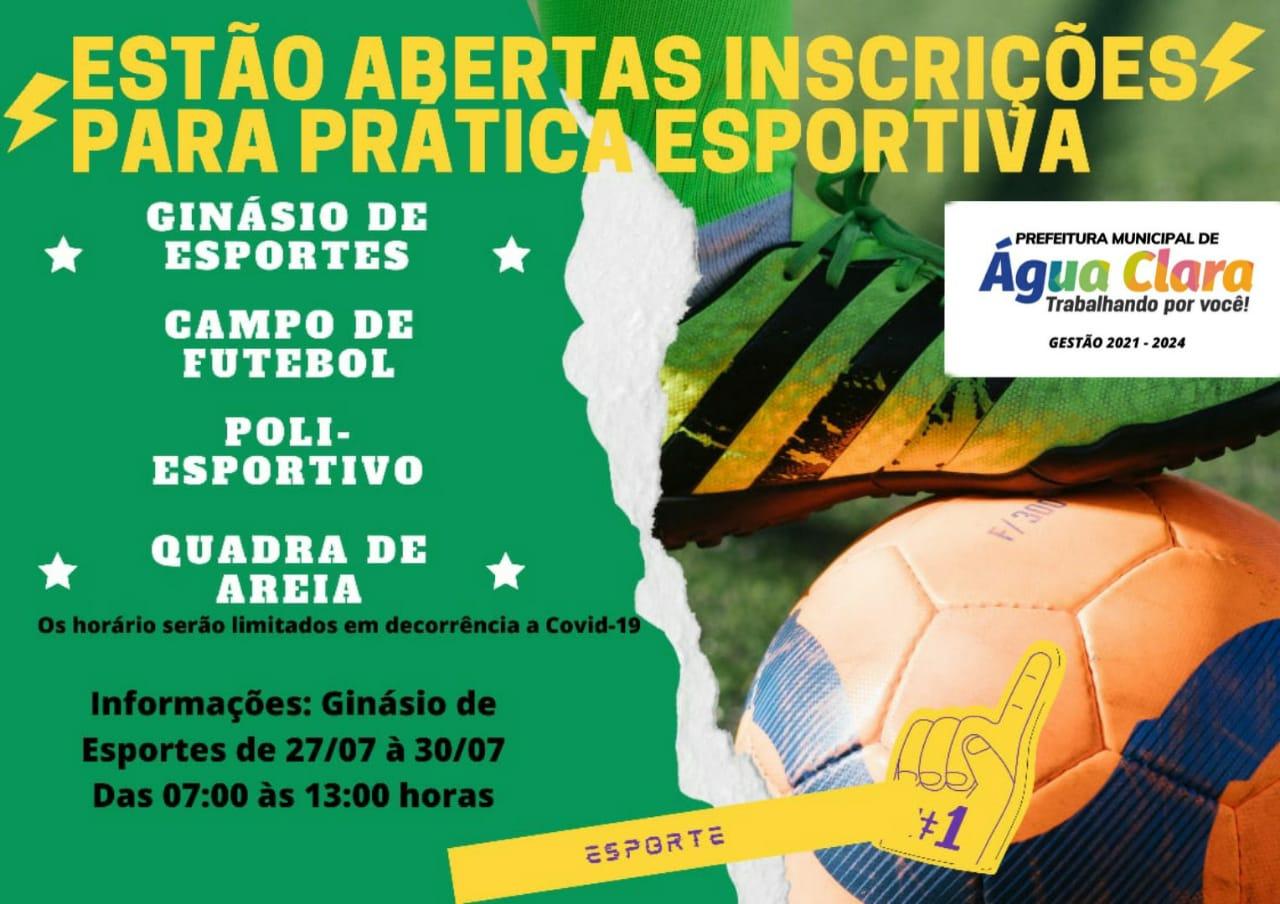 Prefeitura Municipal de Água Clara através da Secretaria de Esportes retoma atividades esportivas