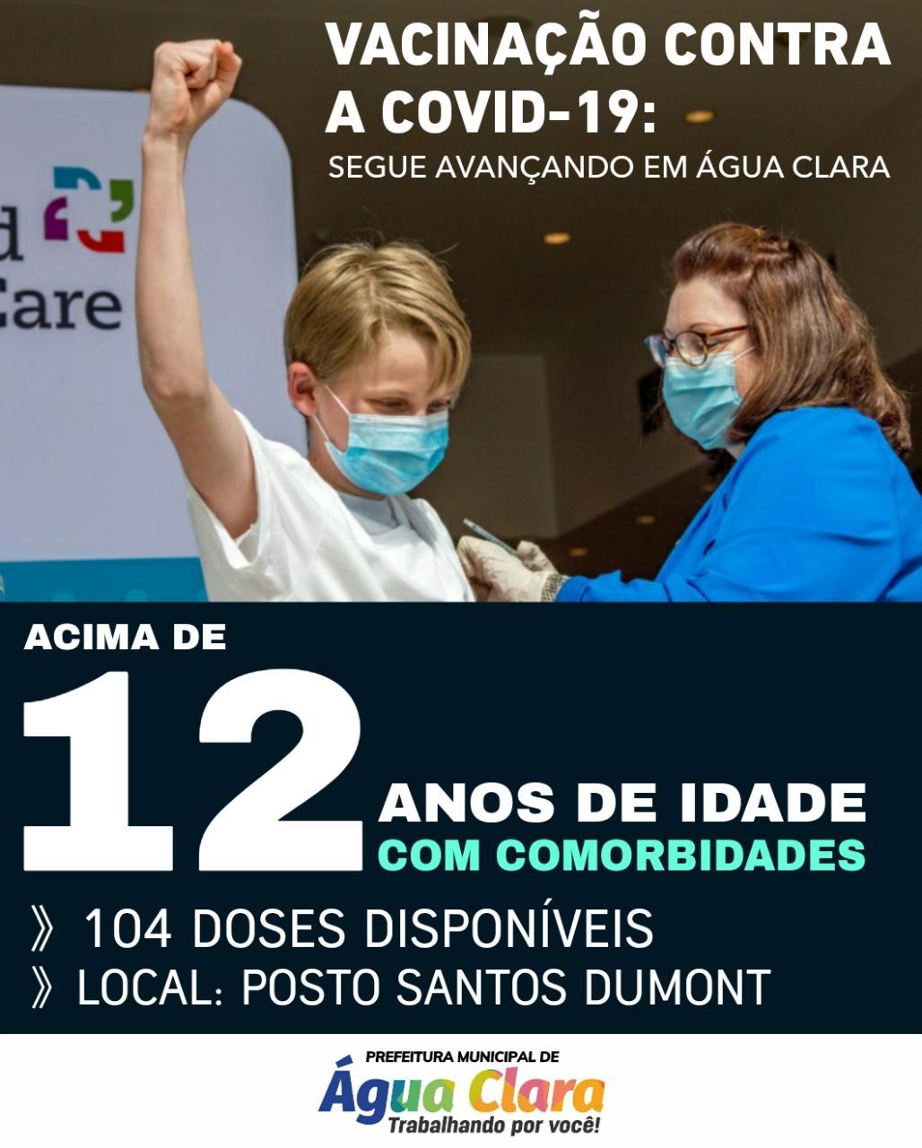 VACINAÇÃO CONTRA A COVID-19 AVANÇA EM ÁGUA CLARA: