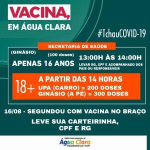 NOVA ETAPA DE VACINCAÇÃO CONTRA COVID-19 CONTEMPLA JOVENS, CONFIRA IDADES E LOCAIS DE VACINAÇÃO