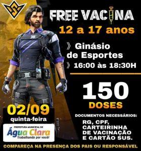 Prefeitura Municipal de Água Clara informa nova etapa de vacinação contra a COVID-19: