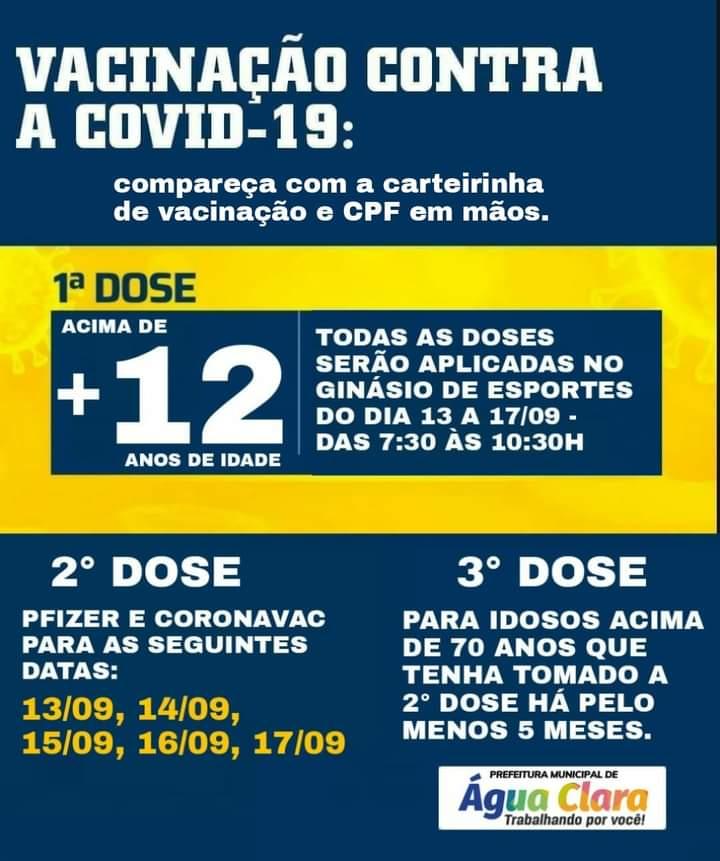 NOVA ETAPA DE VACINAÇÃO CONTRA COVID-19
